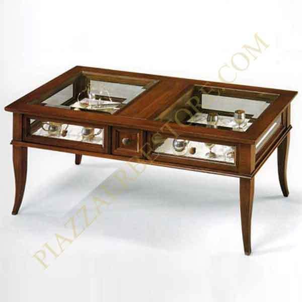 Tavolino vetrina noce tanganica id 143854 for Tavolino con vetrina