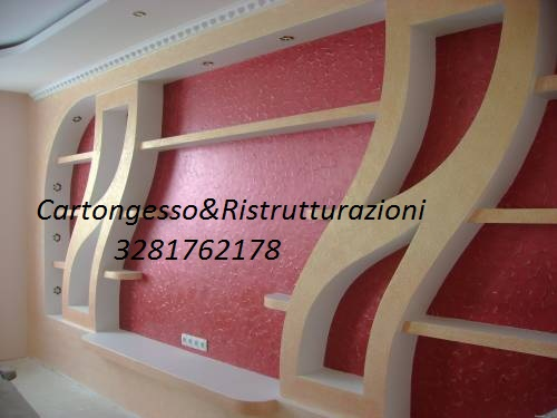 Libreria in cartongesso id 169740 for Mensole curve