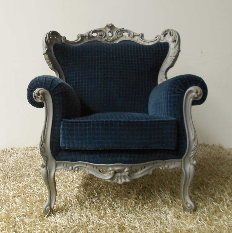 Poltrona blu vintage stile antico id 175438 - Poltrone vintage design ...