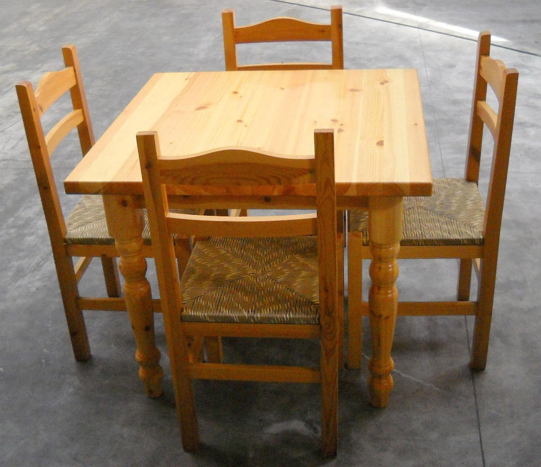 tavolo con 4 sedie in pino massello id 175526