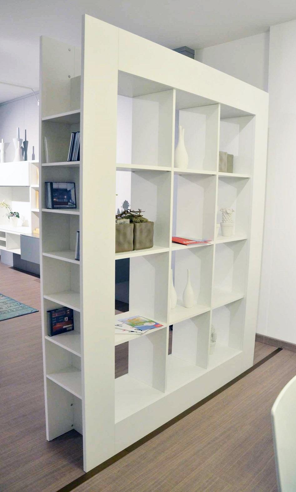 Libreria Bifacciale : Libreria bifacciale in frassino bianco id