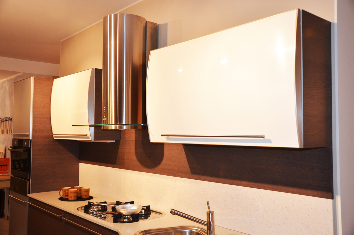 Cucina bianca e legno wengh id 176347 - Cucina 1000 euro ...