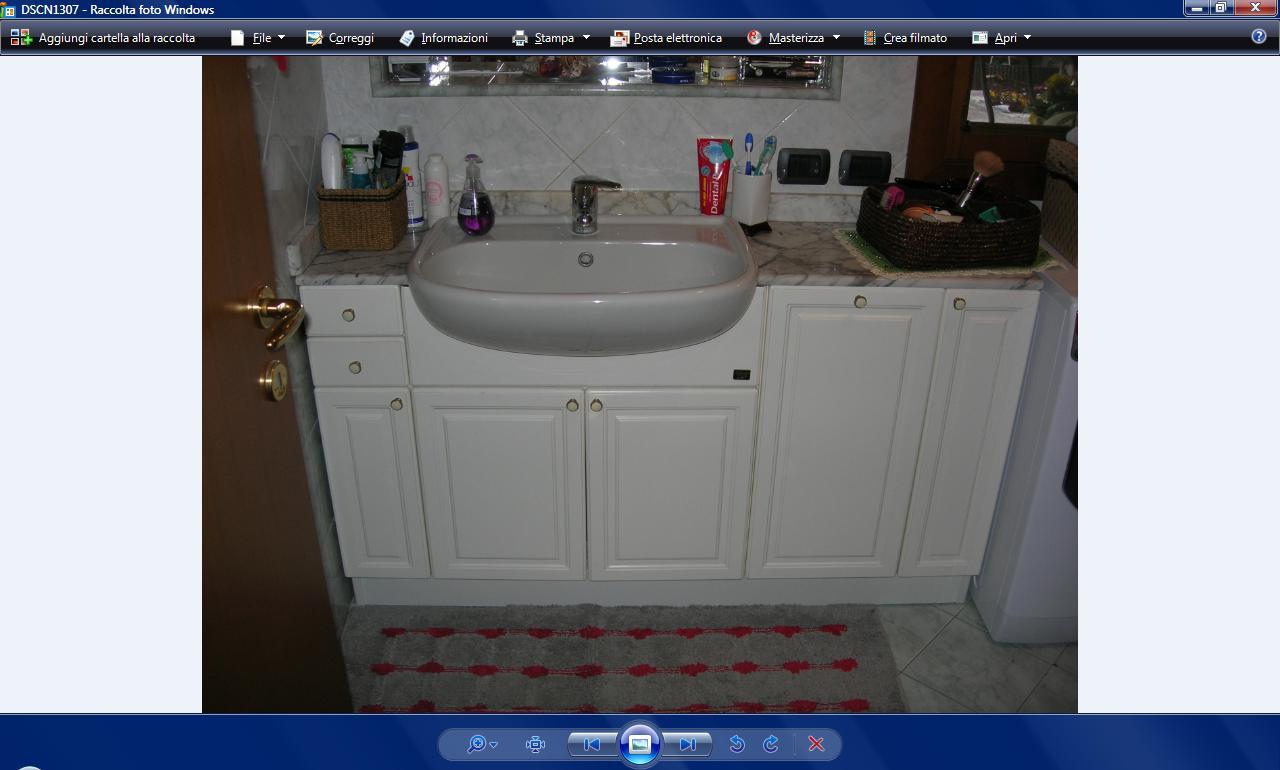 Mobile bagno bianco con piano in marmo id 178827 - Vendo mobile bagno ...