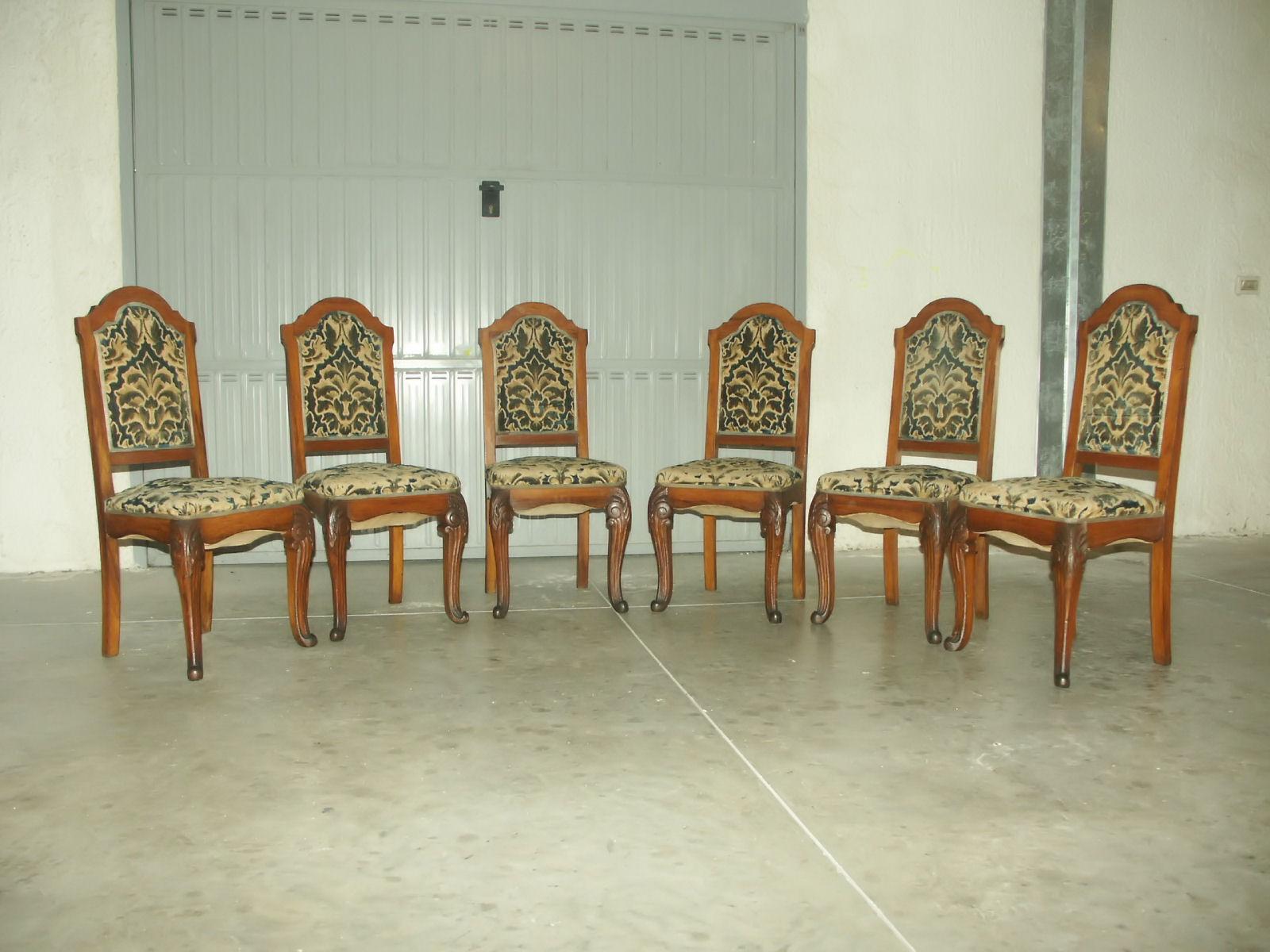 Sedie Stile Chippendale : Vendo sedie antiche primo 900 in id 190057 dbannunci.it