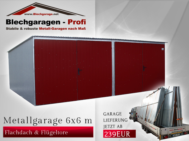 Garage box per due auto 6x6 m id 190402 for Due box auto