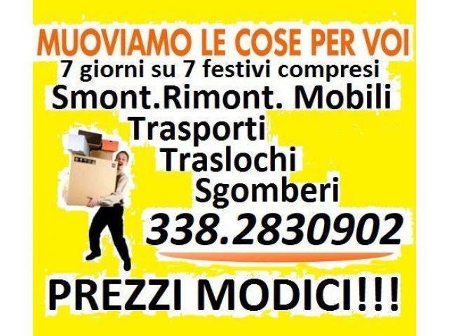 TRASLOCHI TRASPORTI SGOMBERI ECONOMICI 7GG - 1/1