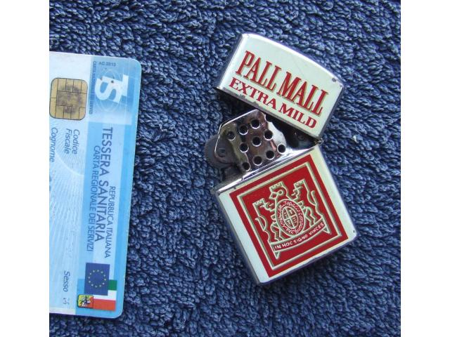 ACCENDINO PALL MALL BENZINA RARO GADEGT TABACCHI SIGARETTE - 2/5