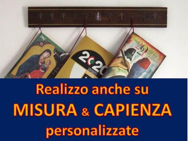 CARABINIERI Porta CALENDARIO IDEA REGALO LEGNO MASSELLO STEMMA ARALDICO e CORDONCINO DORATO - 2/10