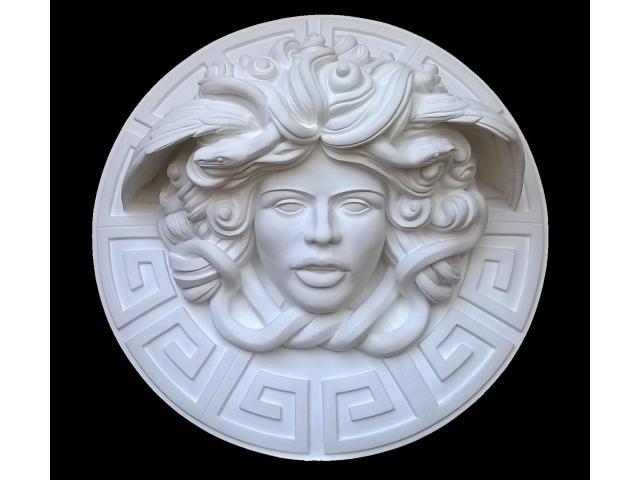 Dalla mitologia classica la Medusa scultura diametro 45 cm - 1/10