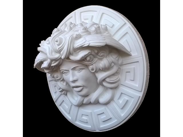 Dalla mitologia classica la Medusa scultura diametro 45 cm - 3/10