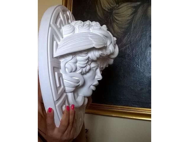 Dalla mitologia classica la Medusa scultura diametro 45 cm - 4/10