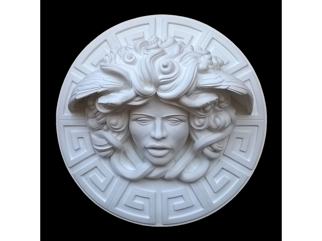 Dalla mitologia classica la Medusa scultura diametro 45 cm - 5/10