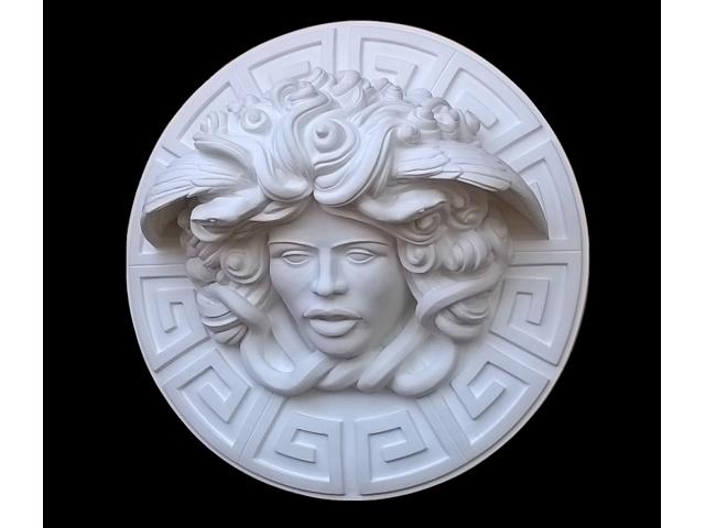 Dalla mitologia classica la Medusa scultura diametro 45 cm - 6/10