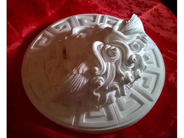 Dalla mitologia classica la Medusa scultura diametro 45 cm - 7/10