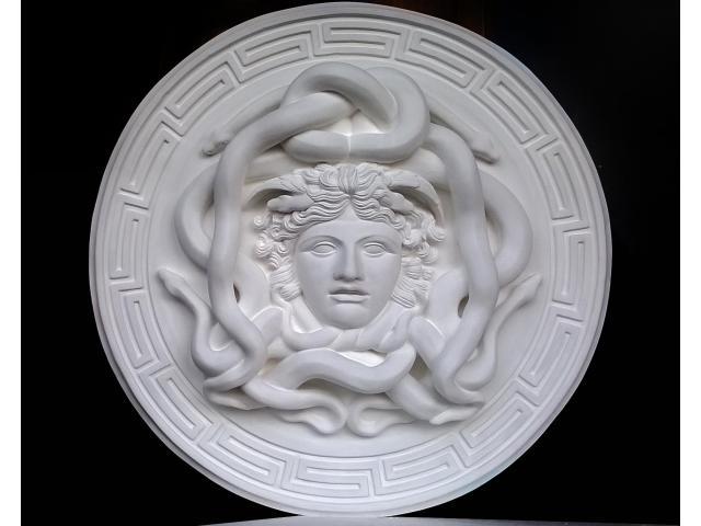 La gorgone Medusa scultura con diametro di 46 cm - 1/10