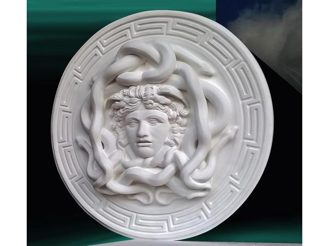La gorgone Medusa scultura con diametro di 46 cm - 2/10