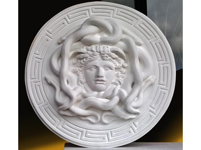 La gorgone Medusa scultura con diametro di 46 cm - 3/10