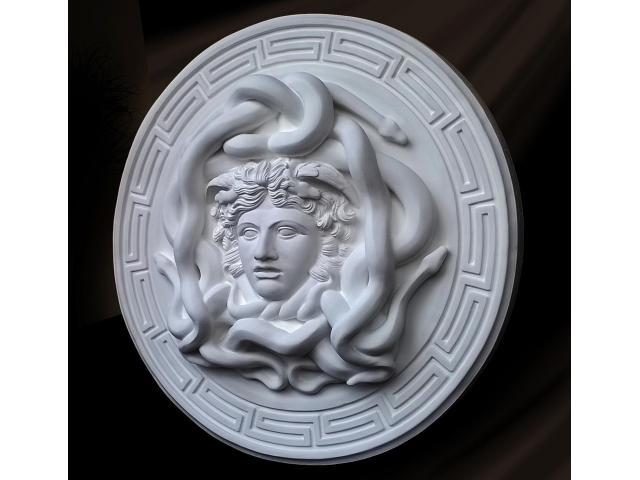 La gorgone Medusa scultura con diametro di 46 cm - 4/10