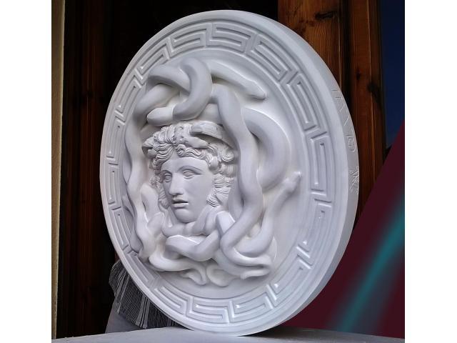 La gorgone Medusa scultura con diametro di 46 cm - 5/10