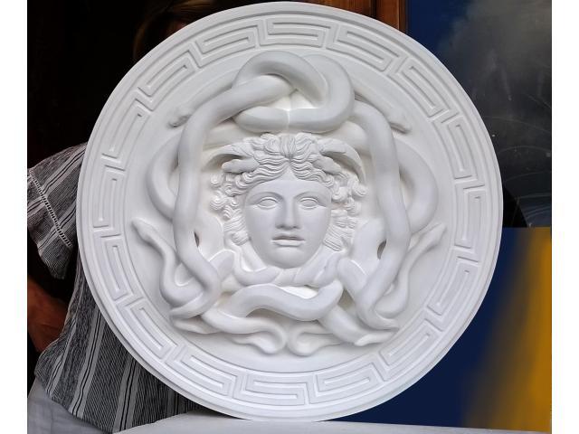 La gorgone Medusa scultura con diametro di 46 cm - 6/10