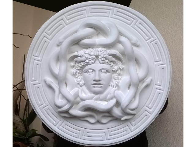 La gorgone Medusa scultura con diametro di 46 cm - 7/10