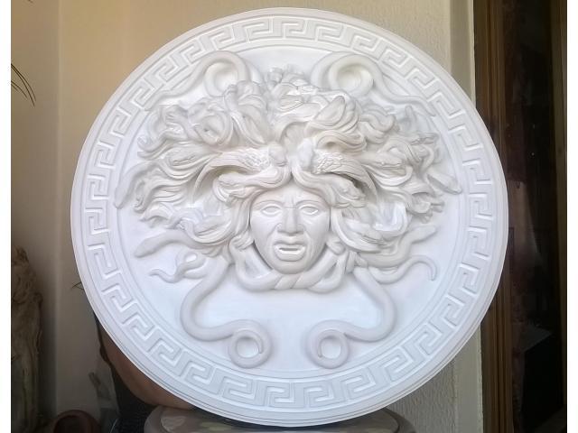 Mito greco di Medusa scultura diametro 49 cm - 1/10