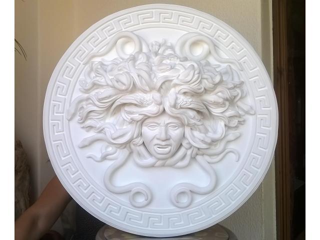 Mito greco di Medusa scultura diametro 49 cm - 2/10
