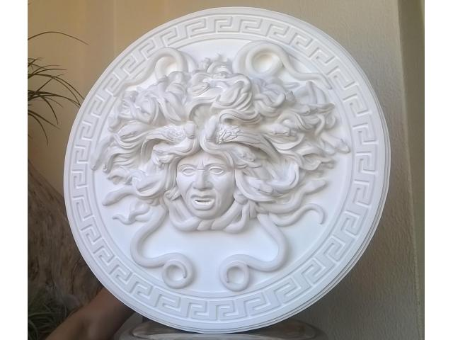 Mito greco di Medusa scultura diametro 49 cm - 3/10