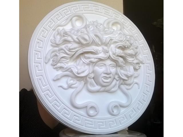 Mito greco di Medusa scultura diametro 49 cm - 4/10