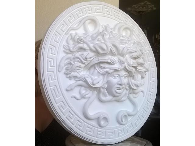Mito greco di Medusa scultura diametro 49 cm - 5/10