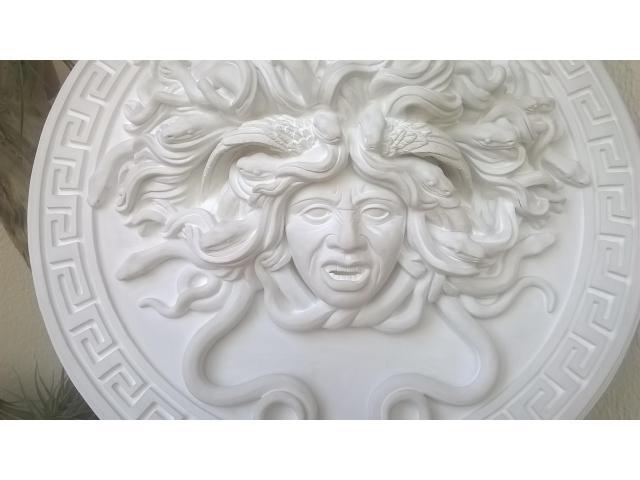 Mito greco di Medusa scultura diametro 49 cm - 6/10