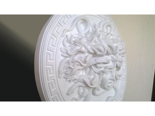 Mito greco di Medusa scultura diametro 49 cm - 7/10