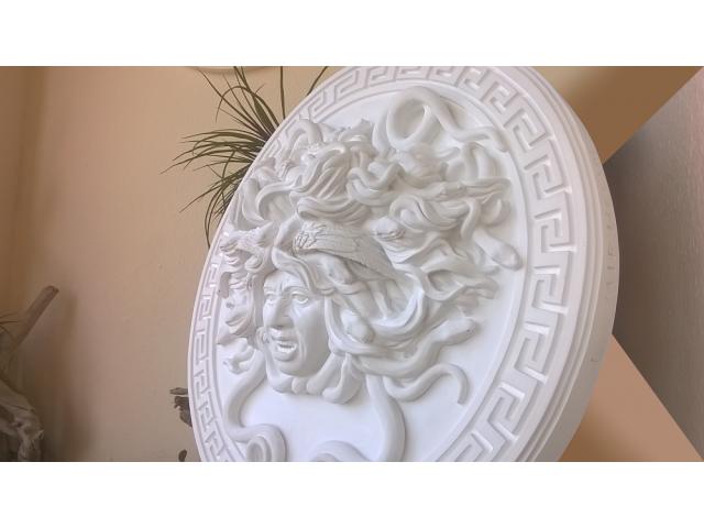 Mito greco di Medusa scultura diametro 49 cm - 8/10
