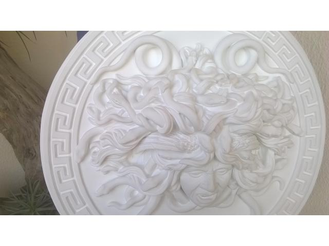 Mito greco di Medusa scultura diametro 49 cm - 9/10