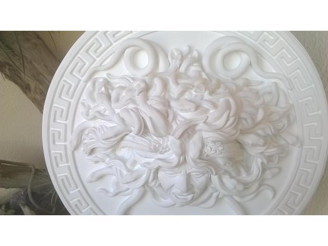 Mito greco di Medusa scultura diametro 49 cm - 10/10