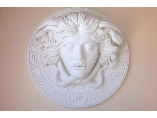 Medusa scultura greca di diametro 60 cm - 1/10