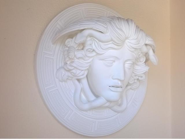 Medusa scultura greca di diametro 60 cm - 3/10