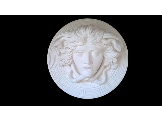 Medusa scultura greca di diametro 60 cm - 9/10
