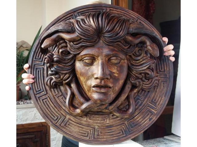 Medusa scultura color bronzo ottocento 60 cm - 1/6