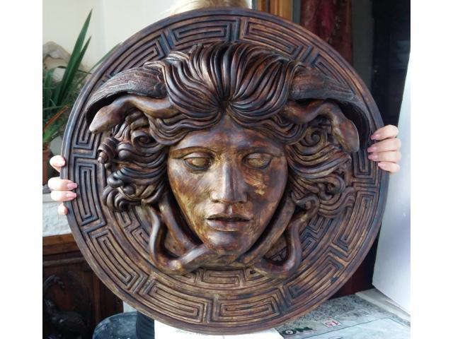 Medusa scultura color bronzo ottocento 60 cm - 2/6