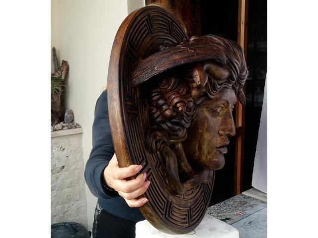 Medusa scultura color bronzo ottocento 60 cm - 3/6