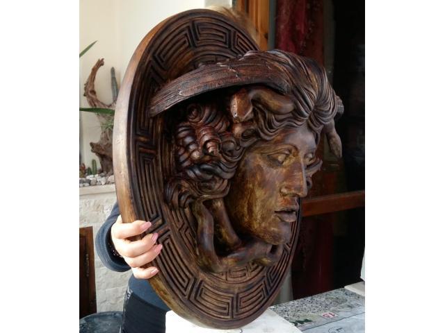 Medusa scultura color bronzo ottocento 60 cm - 4/6