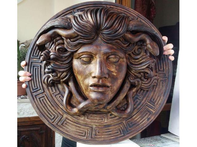 Medusa scultura color bronzo ottocento 60 cm - 5/6