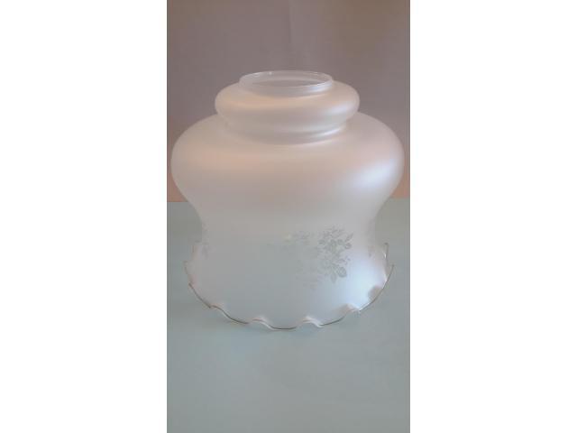 Grande LAMPADARIO in vetro opalino - 5/10