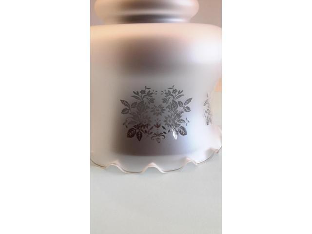 Grande LAMPADARIO in vetro opalino - 6/10