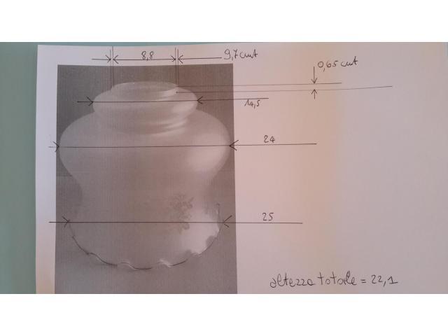 Grande LAMPADARIO in vetro opalino - 9/10