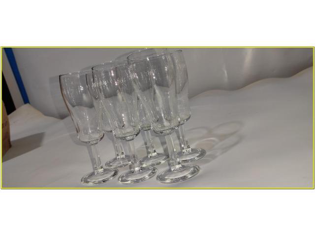 Bicchieri Cristallo Calici Flute Flut Da Champagne Spumante 17 cl - 3/6