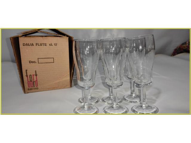 Bicchieri Cristallo Calici Flute Flut Da Champagne Spumante 17 cl - 4/6