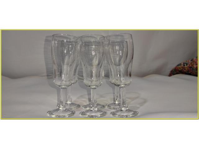 Bicchieri Cristallo Calici Flute Flut Da Champagne Spumante 17 cl - 6/6