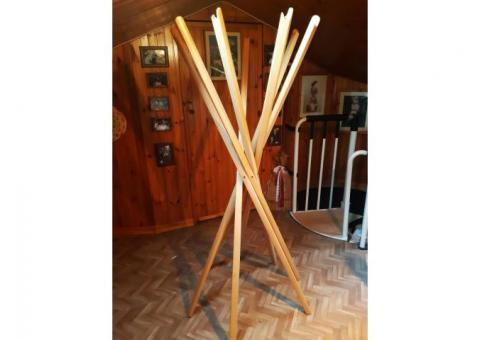 Appendiabiti Zanotta Shangai in legno di rovere
